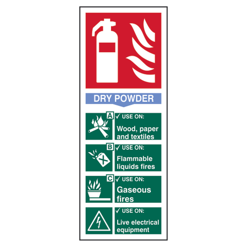 ASEC Fire Extinguisher Signs 82mm x 202mm 1 Locksmith in Stirling