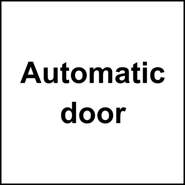 ASEC Automatic Door Sign 150mm x 150mm 1 Locksmith in Stirling