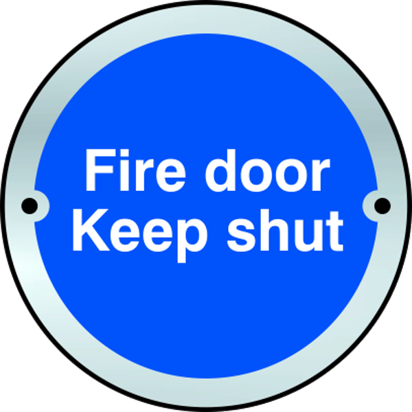 ASEC `Fire door Keep shut` Disc Sign 75mm 1 Locksmith in Stirling