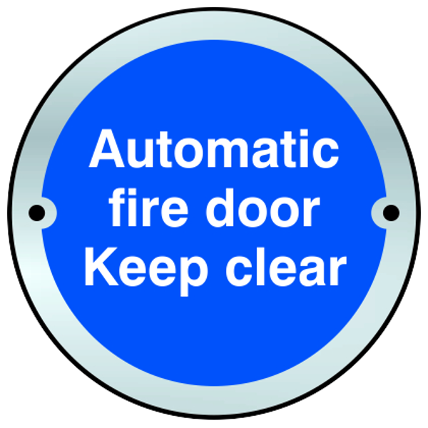 ASEC Sign `Automatic Fire Door Keep Clear` 75mm 1 Locksmith in Stirling