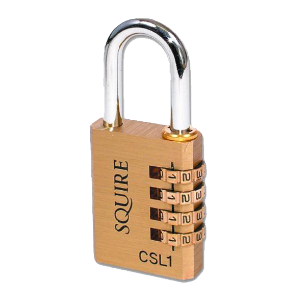 SQUIRE 4 Wheel Brass Open Shackle Combination Padlock 1 Locksmith in Stirling