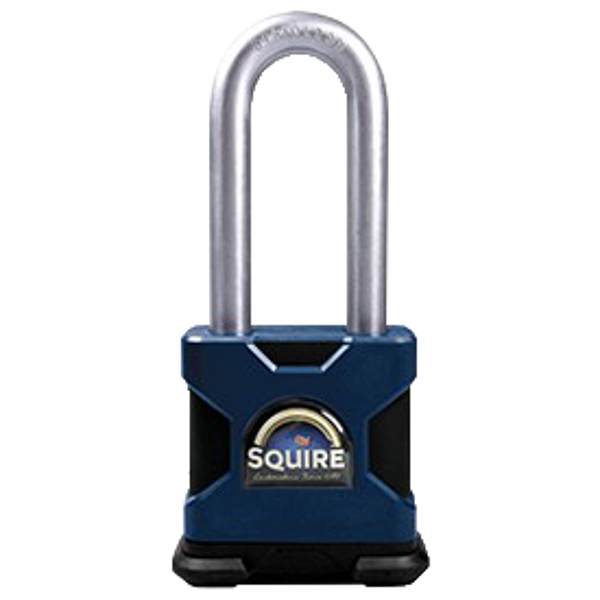 SQUIRE SS50S/2.5 Stronghold Steel 6 Pin Long Shackle Padlock 1 Locksmith in Stirling