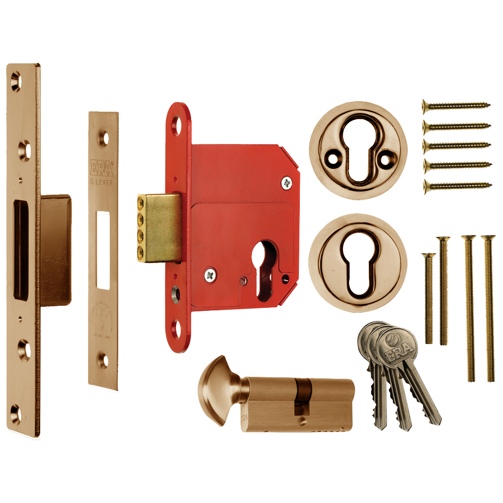 ERA 333 Fortress BS Euro Key & Turn Deadlock With Cylinder 1 Locksmith in Stirling