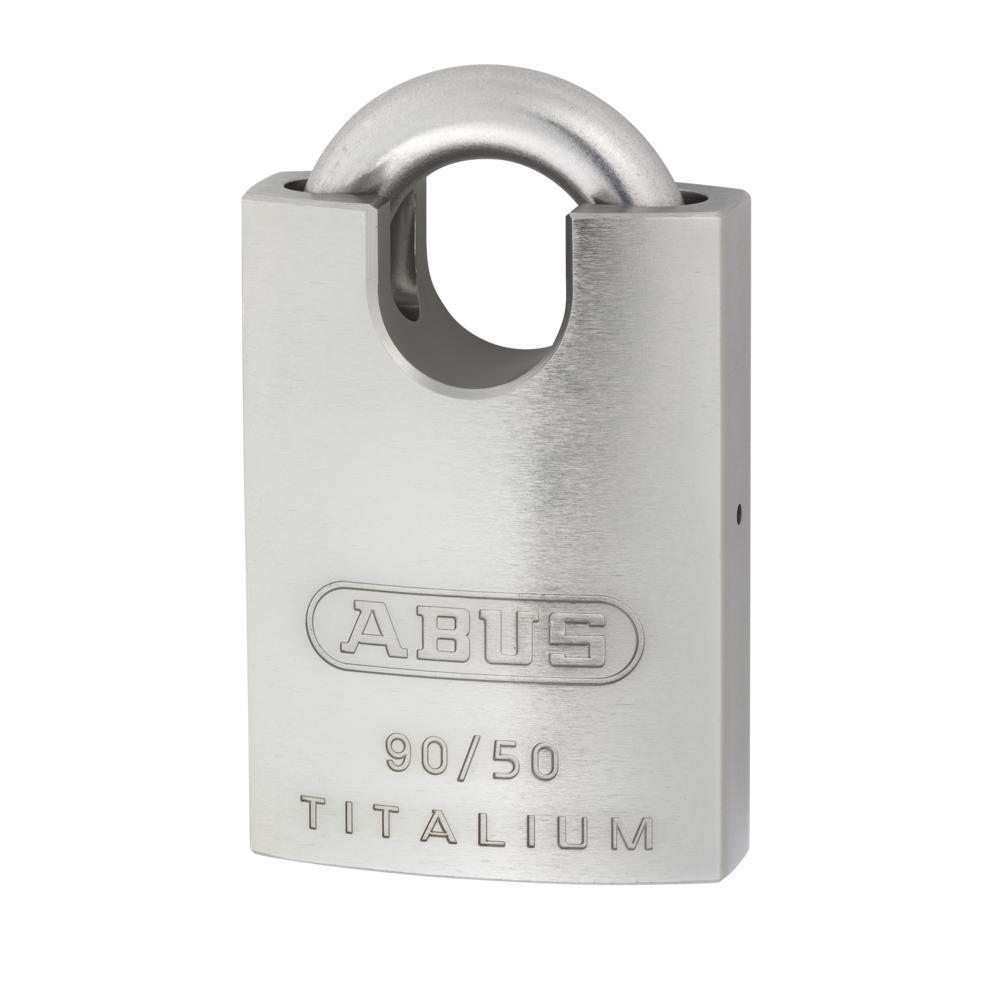 ABUS 90 Series Titalium Stainless Steel Re-Keyable Closed Shackle Padlock 1 Locksmith in Stirling