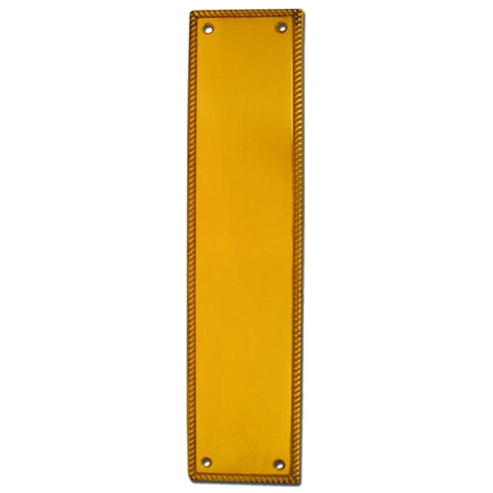 ASEC Georgian 73mm Wide Polished Brass Finger Plate 1 Locksmith in Stirling