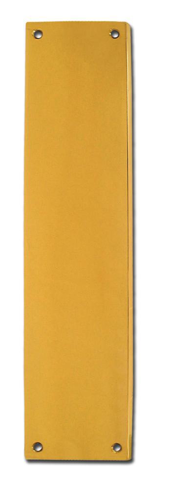 ASEC Victorian 70mm Wide Polished Brass Finger Plate 1 Locksmith in Stirling