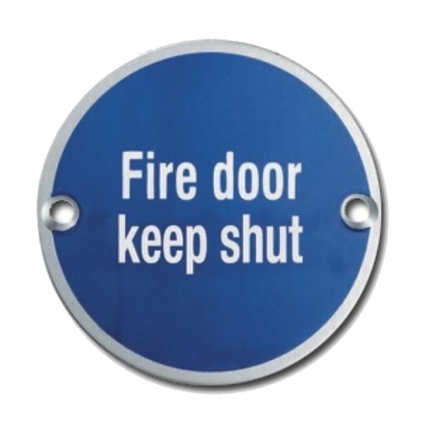 ASEC Metal `Fire Door Keep Shut` Sign 1 Locksmith in Stirling