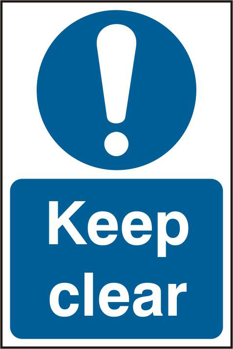 ASEC `Keep Clear` 200mm x 300mm PVC Self Adhesive Sign 1 Locksmith in Stirling