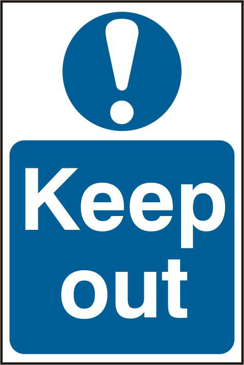 ASEC `Keep Out` 200mm x 300mm PVC Self Adhesive Sign 1 Locksmith in Stirling