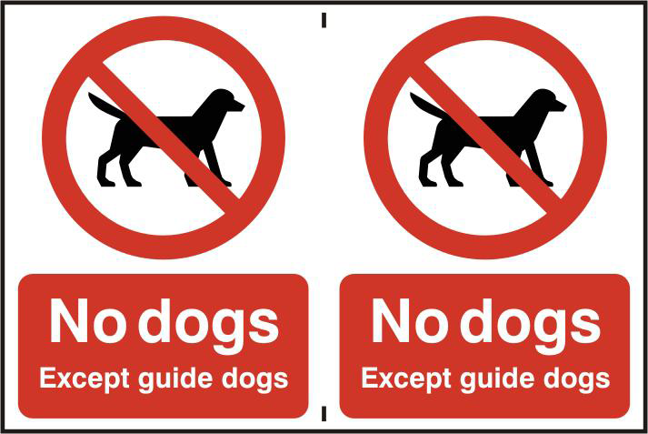 ASEC `No Dogs` 200mm x 300mm PVC Self Adhesive Sign 1 Locksmith in Stirling