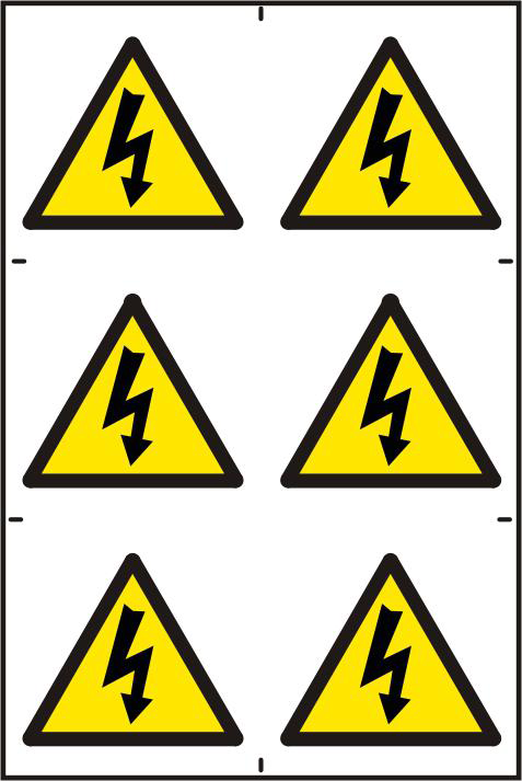 ASEC Electrical Warning Symbol 200mm x 300mm PVC Self Adhesive Sign 1 Locksmith in Stirling