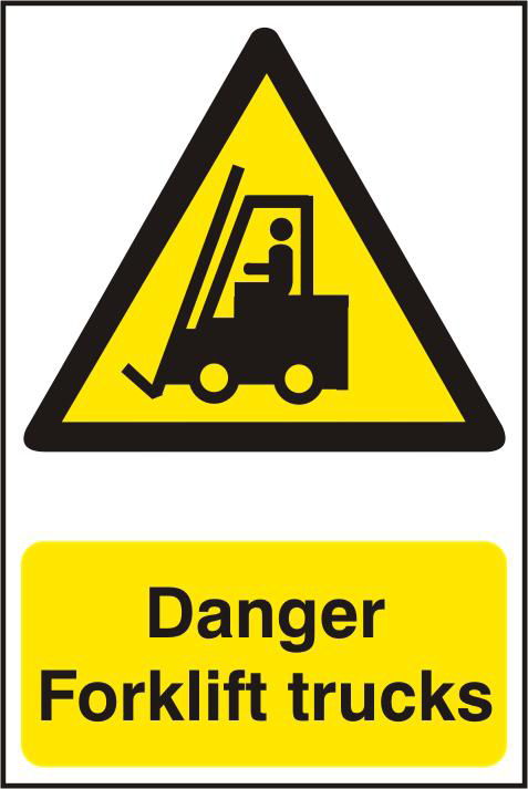 ASEC `Danger Forklift Trucks` 200mm x 300mm PVC Self Adhesive Sign 1 Locksmith in Stirling