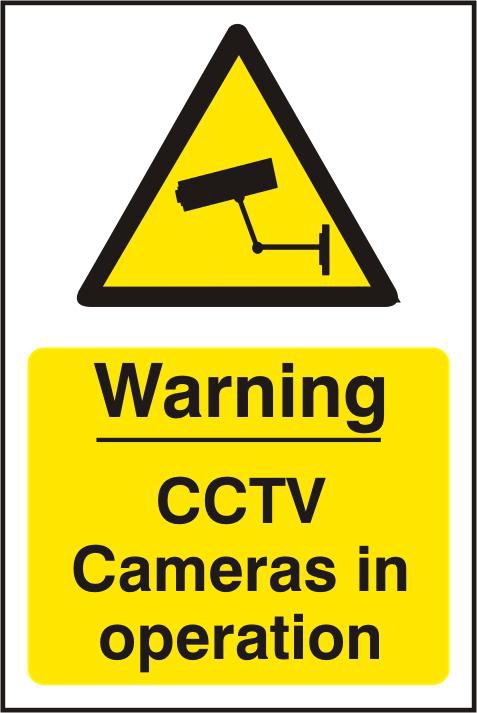 ASEC `Warning CCTV Cameras in Operation` 200mm x 300mm PVC Self Adhesive Sign 1 Locksmith in Stirling