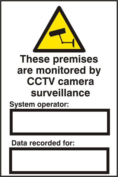 ASEC `These Premises Are Monitored By CCTV Surveillance` 200mm x 300mm PVC Self Adhesive Sign 1 Locksmith in Stirling