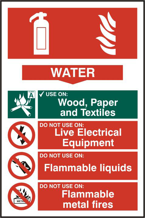 ASEC Fire Extinguisher 200mm x 300mm PVC Self Adhesive Sign 1 Locksmith in Stirling