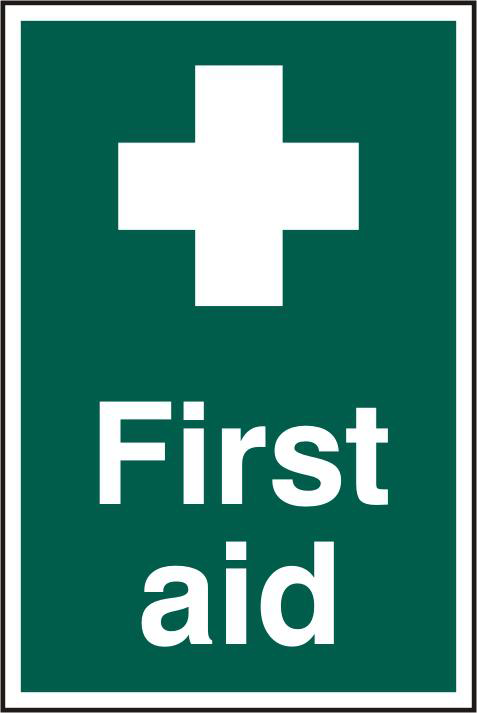 ASEC `First Aid` 200mm x 300mm PVC Self Adhesive Sign 1 Locksmith in Stirling