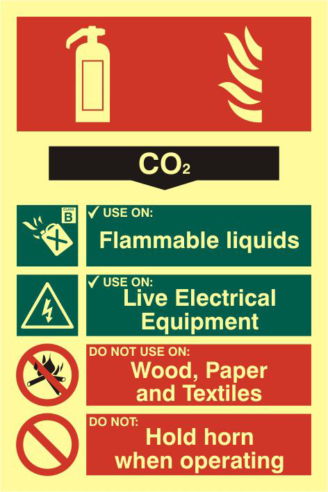 ASEC Fire Extinguisher 200mm x 300mm PVC Self Adhesive Photo luminescent Sign 1 Locksmith in Stirling