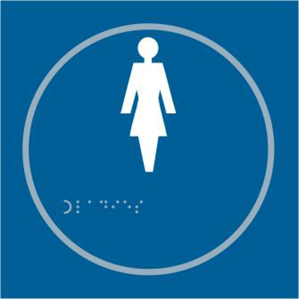 ASEC `Ladies` 150mm x 150mm Taktyle (Braille) Self Adhesive Sign 1 Locksmith in Stirling