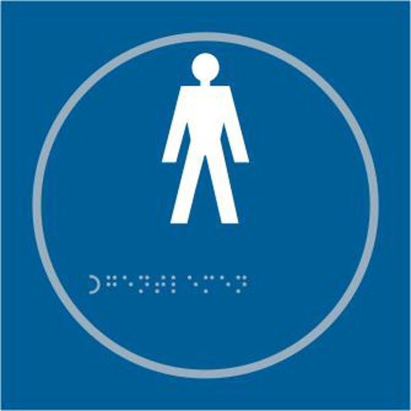ASEC `Gents` 150mm x 150mm Taktyle (Braille) Self Adhesive Sign 1 Locksmith in Stirling