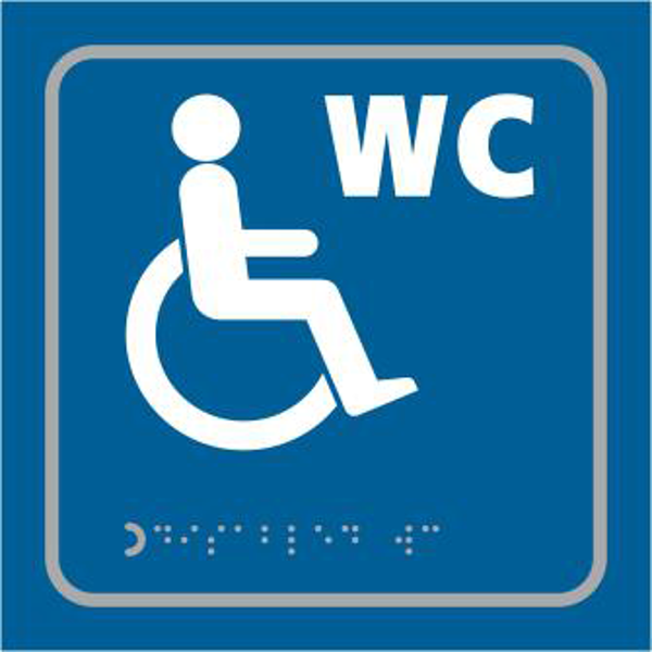 ASEC `Disabled` 150mm x 150mm Taktyle (Braille) Self Adhesive Sign 1 Locksmith in Stirling