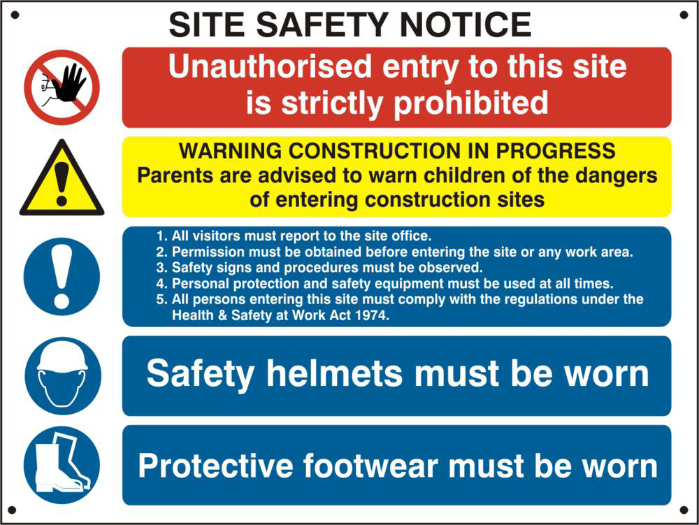 ASEC Composite Site Safety Poster 800mm x 600mm PVC Sign 1 Locksmith in Stirling