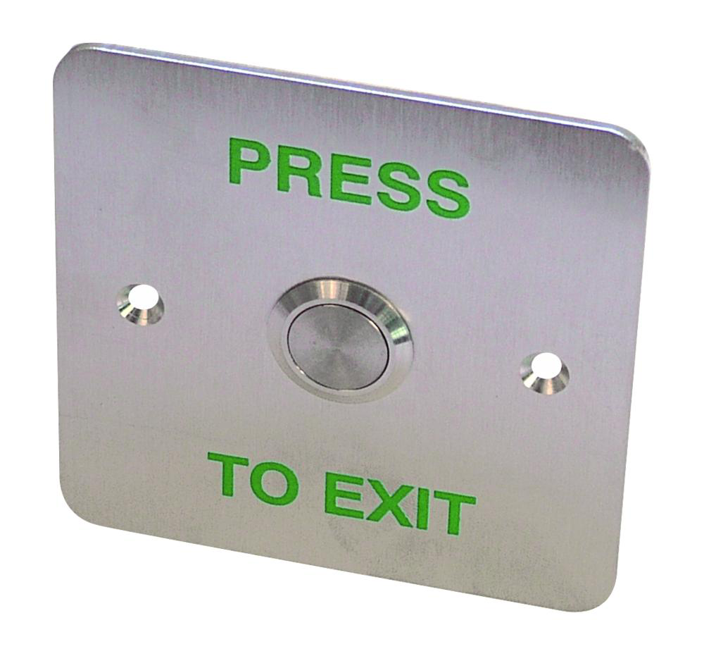 ASEC Press To Exit Stainless Steel Surface 1 Gang Button 1 Locksmith in Stirling
