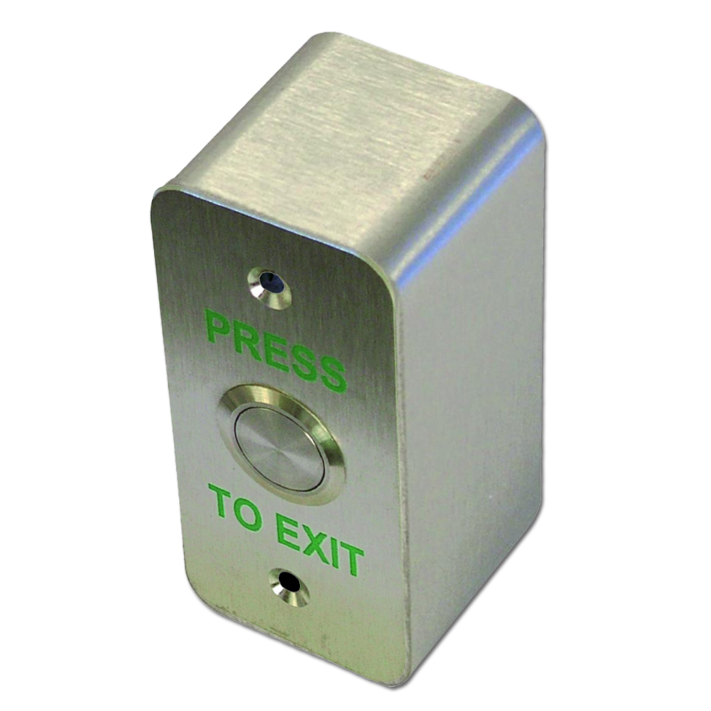 ASEC Press To Exit Narrow Style Surface Button Stainless Steel 1 Locksmith in Stirling