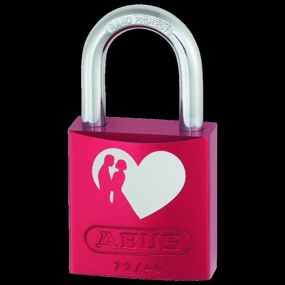 ABUS 72/40 Red Love Locks Padlocks 1 Locksmith in Stirling