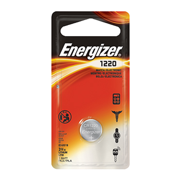ENERGIZER CR1220 3V Lithium Coin Cell Battery 1 Locksmith in Stirling