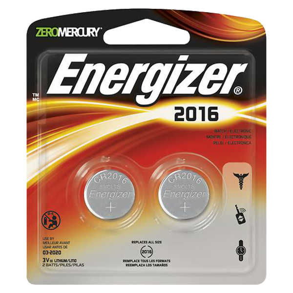 ENERGIZER CR2016 3V Lithium Coin Battery - Twin Pack 1 Locksmith in Stirling