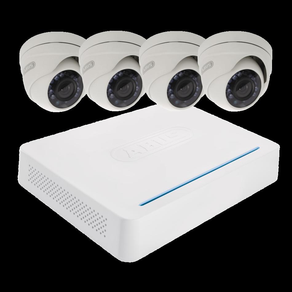 ABUS TVVR33418 AHD 4 Dome Camera CCTV Kit 1 Locksmith in Stirling