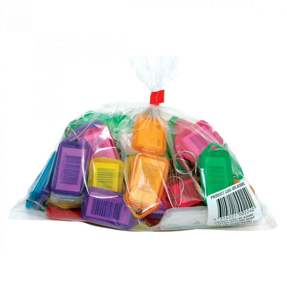 KEVRON ID5 AC50 Tags Bag of 50 Assorted Colours 1 Locksmith in Stirling