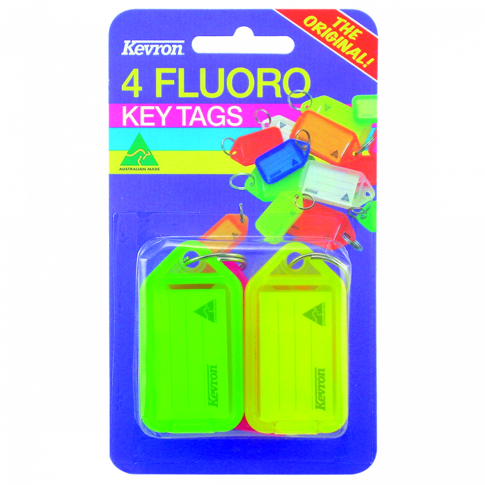 KEVRON ID38 Fluorescent Tags Blister Pack 4 pcs 1 Locksmith in Stirling