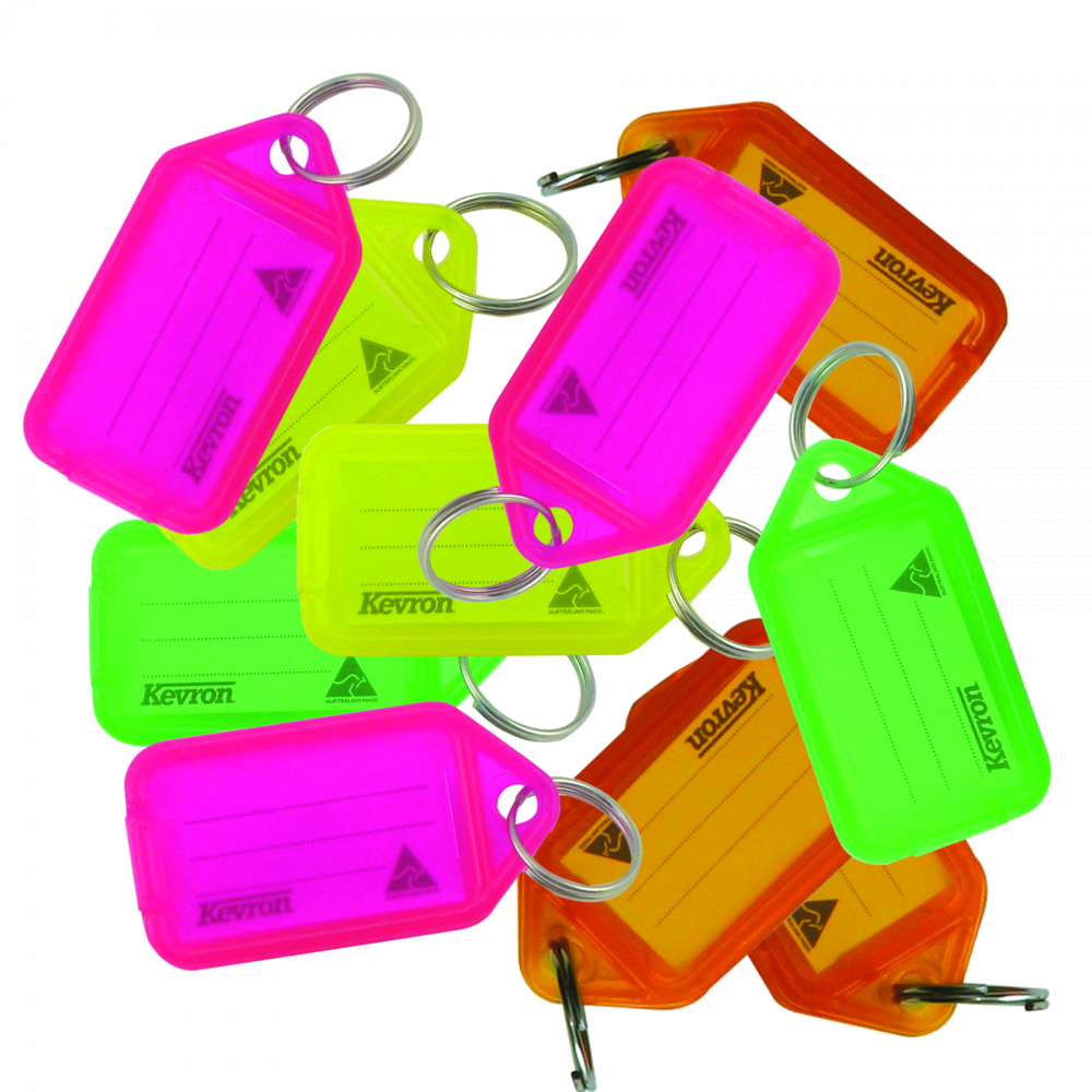 KEVRON ID38 Tags Bag of 50 Assorted Colours Fluorescent 1 Locksmith in Stirling