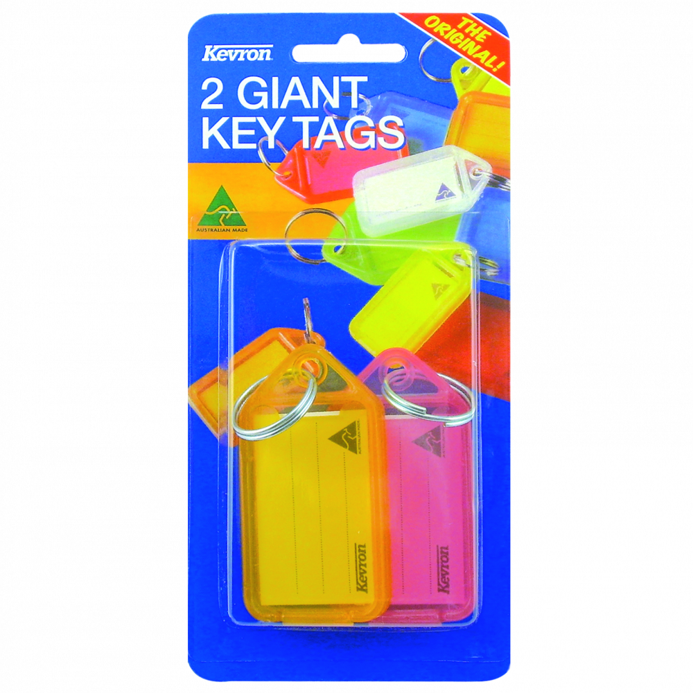 KEVRON ID30 Giant Tags Blister Pack 4 pcs Assorted Colours 1 Locksmith in Stirling