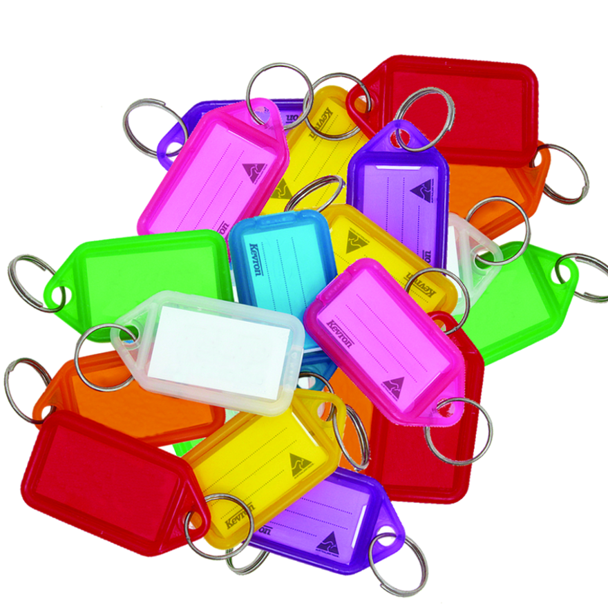 KEVRON ID30 Giant Tags Bag of 25 Assorted Colours 1 Locksmith in Stirling