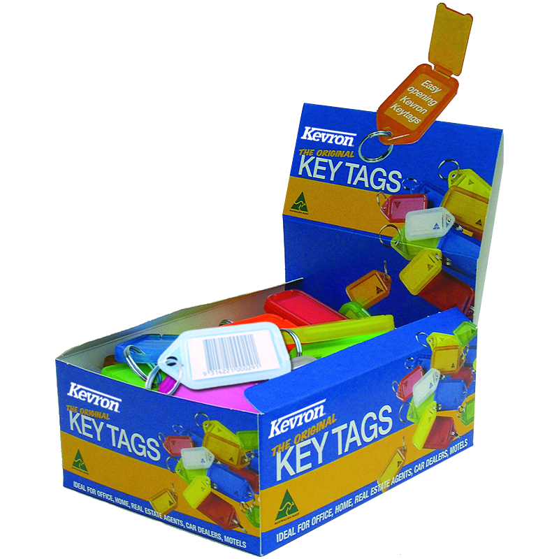 KEVRON ID30 Giant Tags Display Box 50pcs Assorted Colours 1 Locksmith in Stirling