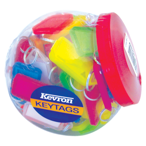 KEVRON ID30 Giant Tags Display Tub 70pcs Assorted Colours 1 Locksmith in Stirling