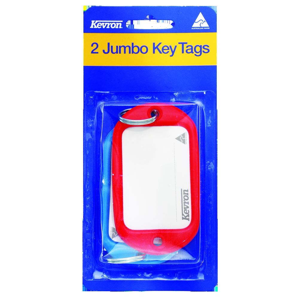 KEVRON ID10 PP2 Jumbo Key Tags Blister Pack 2 pcs 1 Locksmith in Stirling