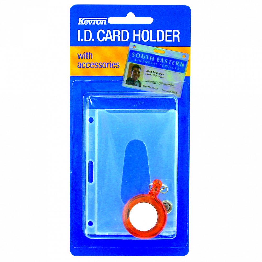 KEVRON ID1013 RE Clear Card Holder & Reel Pack 1 Locksmith in Stirling