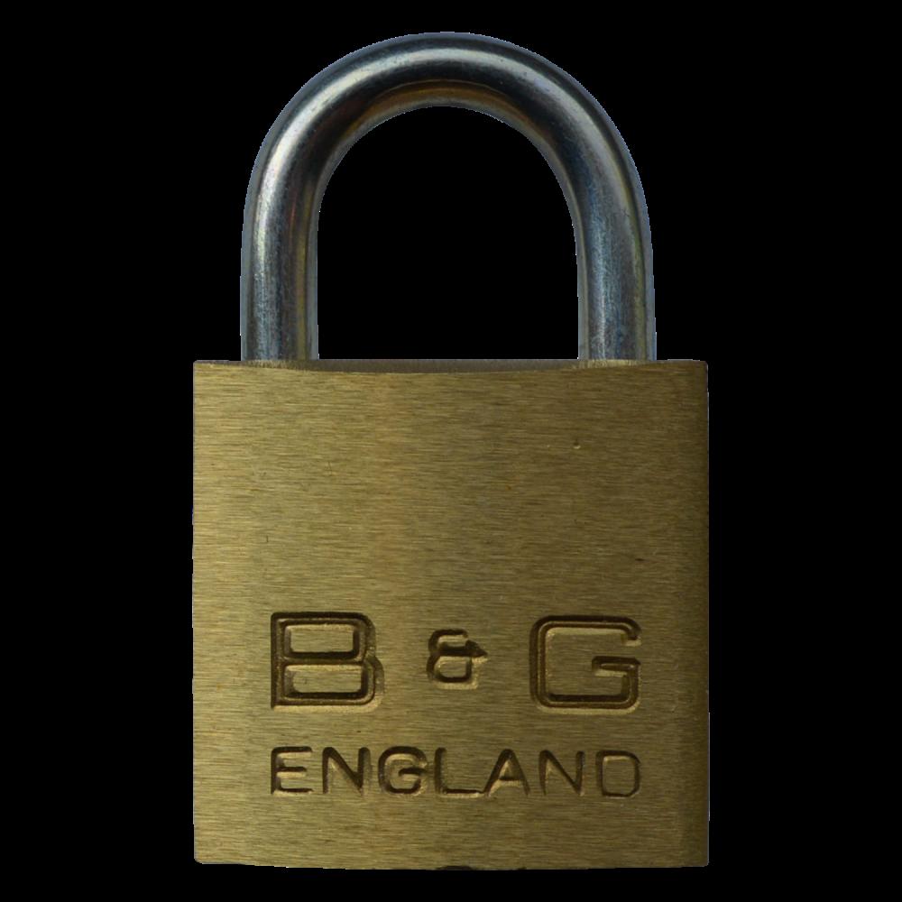 B&G Warded Brass Open Shackle Padlock - Steel Shackle 1 Locksmith in Stirling