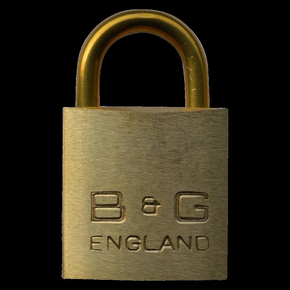 B&G Warded Brass Open Shackle Padlock - Brass Shackle 1 Locksmith in Stirling