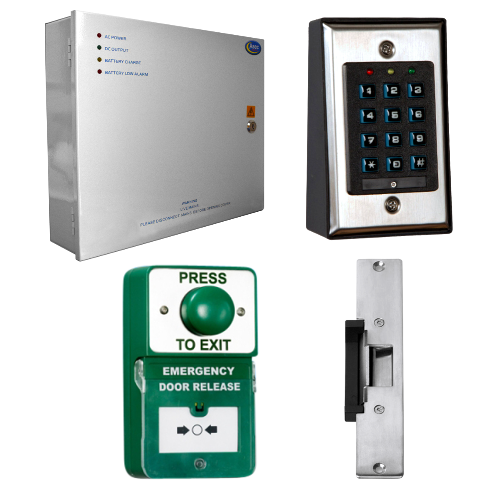 ASEC Keypad Kit with Exit Button, Call Point and Release 1 Locksmith in Stirling