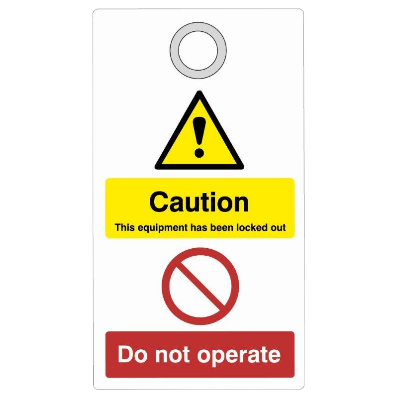 ASEC Double Sided Lockout Tagout Tags `Caution - Do Not Operate` 1 Locksmith in Stirling