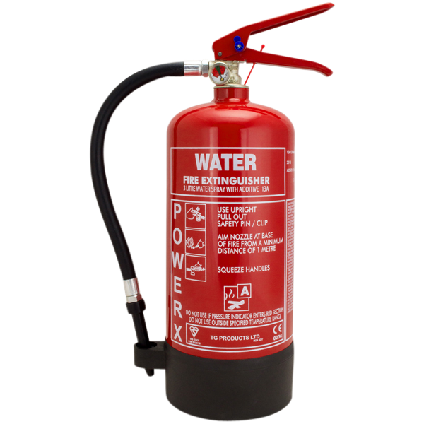 THOMAS GLOVER PowerX Fire Extinguisher - Water With Additive 3L 1 Locksmith in Stirling