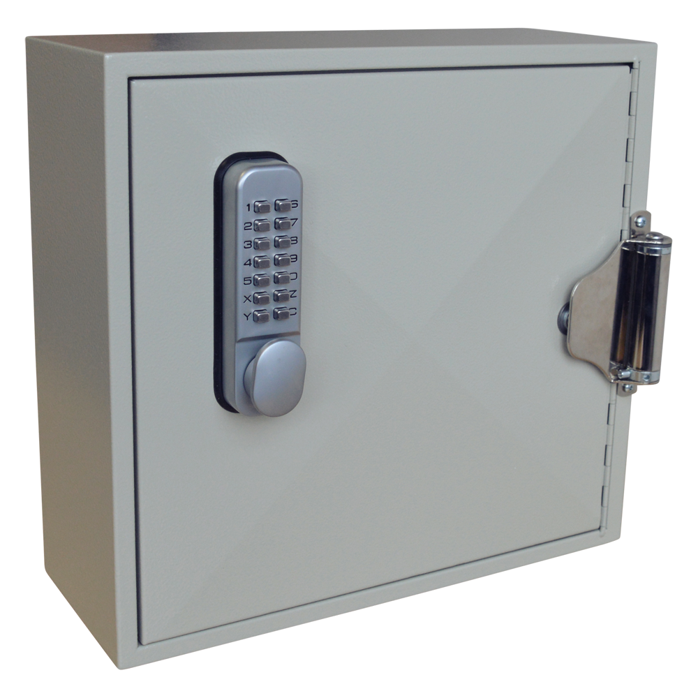 ASEC 50 Hook Digital Self Closing Cabinet For Padlocks or Key Bunches 1 Locksmith in Stirling