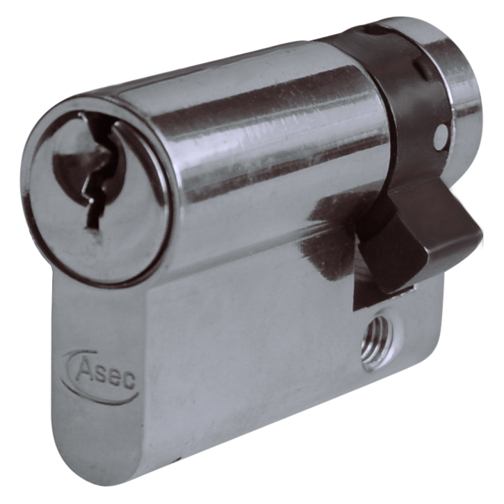 Asec Euro Half Cylinder With Adjustable Cam - 5 Pin 1 Locksmith in Stirling