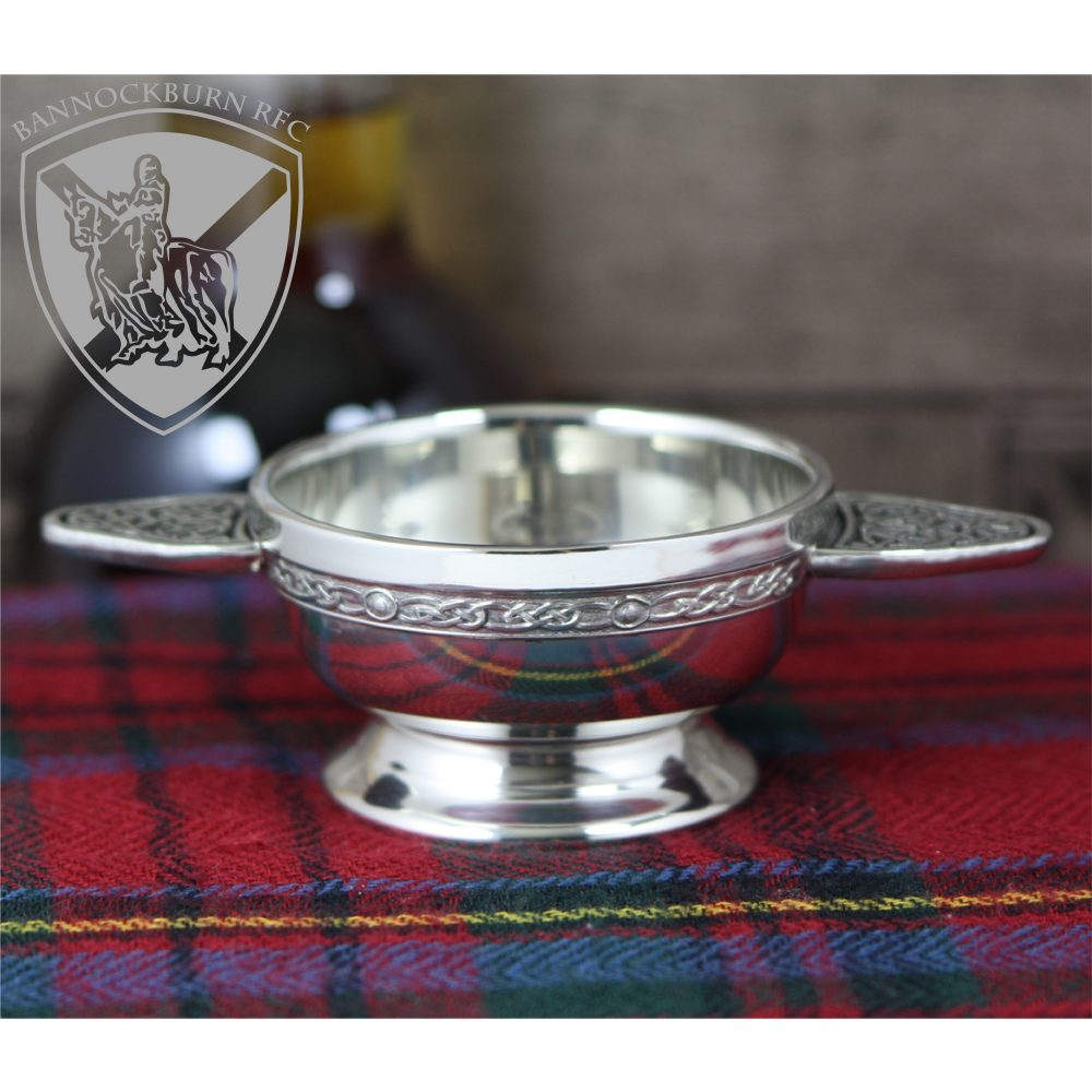 Clubs & Soceities - Personalised Engraved Scottish Quaich Pewter Celtic Handle 1 Locksmith in Stirling
