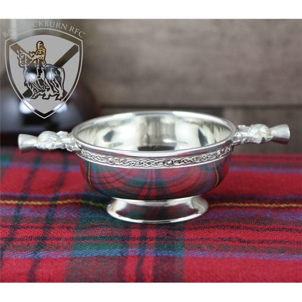Clubs & Societies - Traditional Engraved Personalised Scottish Quaich Pewter Thistle Handle 1 Locksmith in Stirling