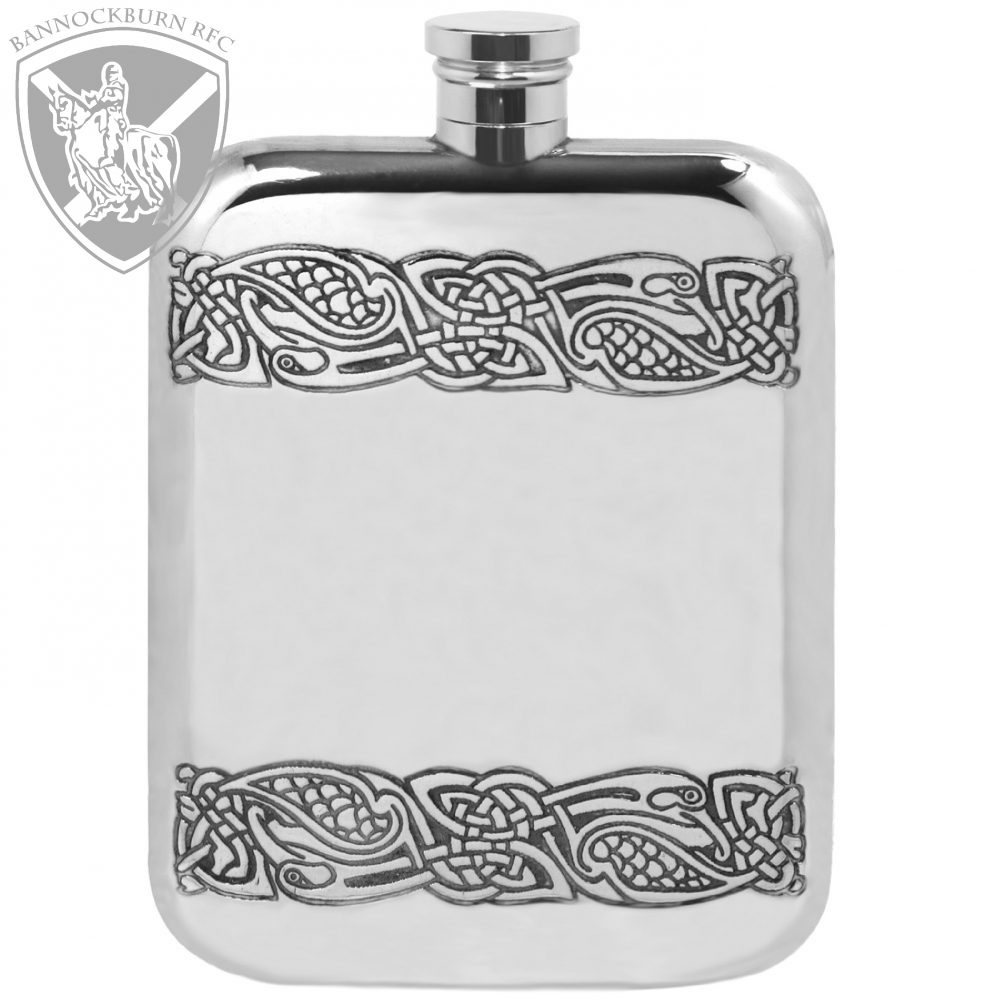 Clubs & Societies - 6oz Personalised Celtic Pewter Hip Flask 1 Locksmith in Stirling